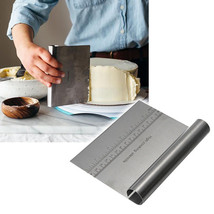 Scraper Stainless Steel Pizza Dough Cutter Pastry Cake Flour Tool Kitche... - $7.06