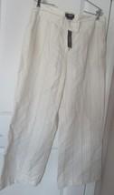 MAXIME KATHERINE FIT WOMEN'S WIDE LEG SIZE-12R PANT LINEN BLEND STRIPE B... - $94.90