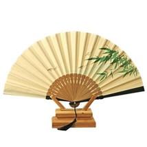 Folding Fan Gentleman Cotton Cloth   willow fish - $10.44