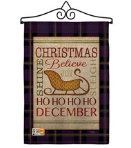 Believe in Joy of Sleigh Burlap - Impressions Decorative Metal Wall Hang... - $33.97
