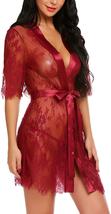 Avidlove Women Kimono Robe Floral Lace Babydoll Lingerie Sheer Mesh Nigh... - $22.76+