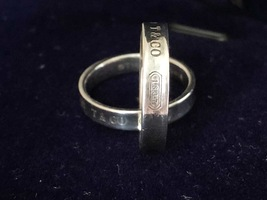 100% AUTH Tiffany & Co. Interlocking Circles Ladies Ring 925 Sterling Silver image 14