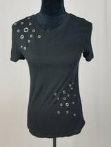 Rebellious One Juniors XS embellished T-shirt black - $18.19