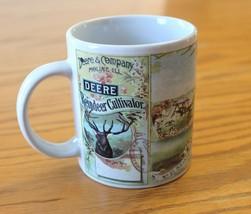 John Deere & Company Coffee Mug Cup Nostalgic Gibson Reindeer Cultivator  - $15.99