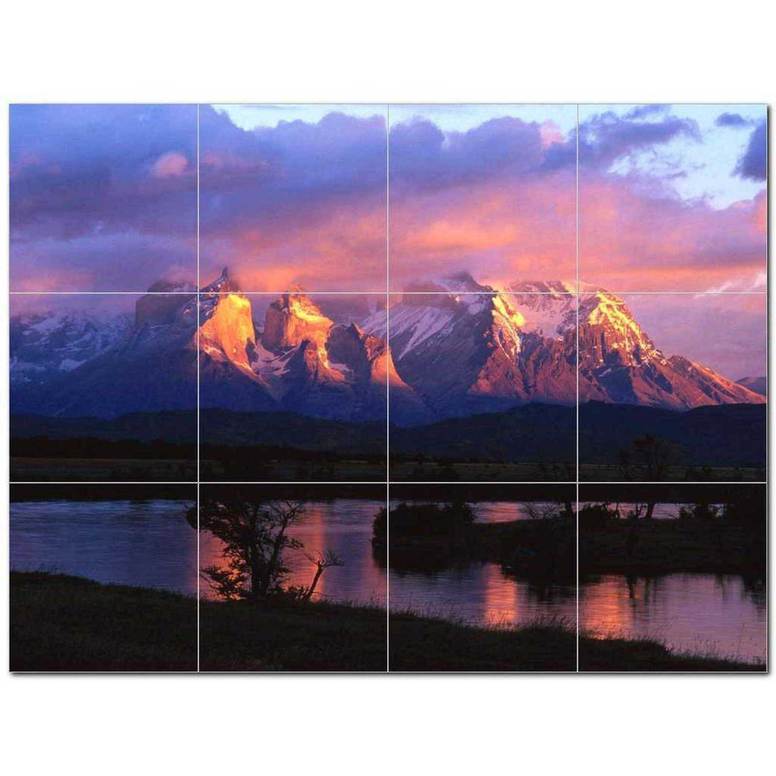 Primary image for Mountain Scene Ceramic Tile Mural Kitchen Backsplash Bathroom Shower BAZ405636