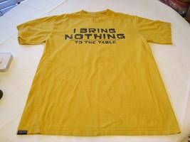 "Men's Jansport short sleeve t shirt L golden yellow ""I Bring Nothing to ... - $13.38"