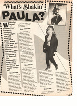 Paula Abdul teen magazine pinup clipping what's shakin Paula