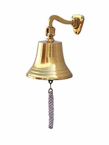 Primary image for PARIJAT HANDICRAFT Solid Brass Ships Bell Wall Mountable - Clear Ring for Indoor