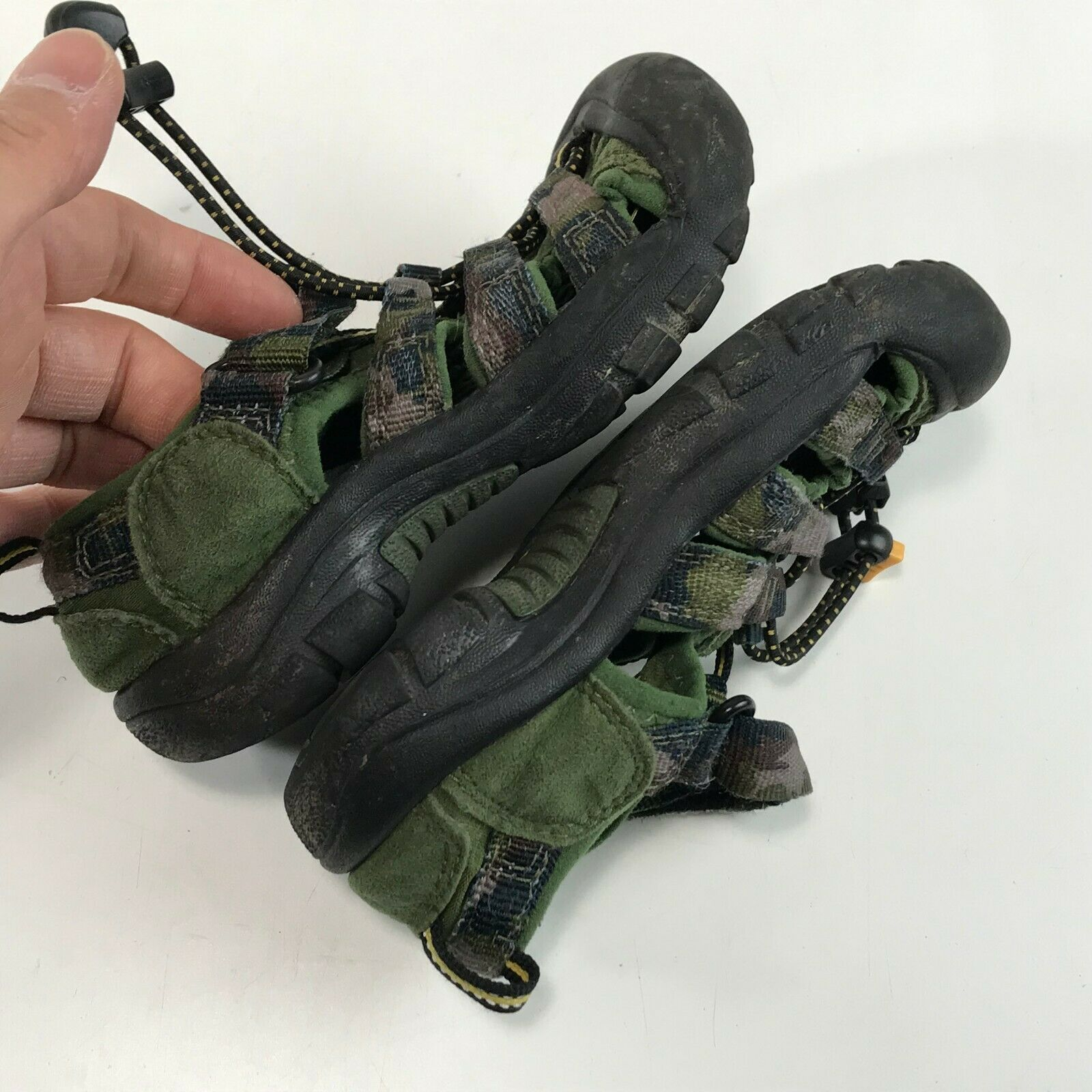 Boys KEEN Newport H2 Water SandalS Green Camo Camouflage, Toddler 11 image 7