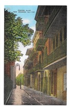 Pirates Alley New Orleans LA Vintage EC Kropp Linen Postcard - $4.99