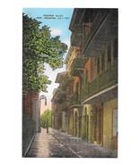 Pirates Alley New Orleans LA Vintage EC Kropp Linen Postcard - $4.99