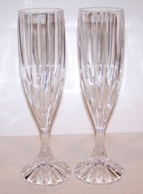 "Stunning Pair Of Mikasa Crystal Park Lane 8 5/8"" Champagne Flutes - $32.66"