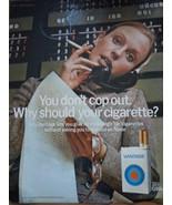 Vintage Vantage Cigarette Women With Phone Print Magazine Advertisement ... - $4.99
