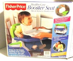 Fisher-Price Healthy Care Booster Seat Blue Green BABY SEAT - $18.00