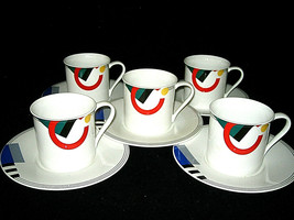 MIKASA MAXIMA High Spirits CAK12 Coffee Cups & Saucers 10-pc set  Excell... - $49.99