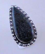 13 Gr Ocean Jasper Stone Silver Overlay Handmade Jewelry Ring Size 9 - $2.49