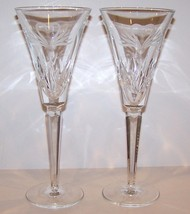 Lovely Pair Of Waterford Crystal Wedding Heirloom Swan Champagne Toasting Flutes - $71.52