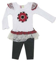 Twirls & Twigs Baby Girls Red Size 6-12 Months 2Pcs Top+Skirted Leggings... - $27.12