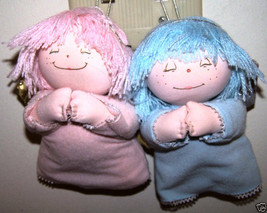 TWO APPLAUSE HEAVENLY KIDS ANGEL ORNAMENTS PINK/BLUE!! - $9.99