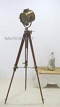 Nauticalmart Designer Floor Standing Brass Finish Tripod Floor Lamp - $195.03