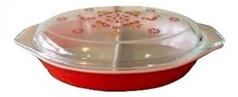 Pyrex Friendship Pattern Divided Casserole Dish With Lid - $74.24