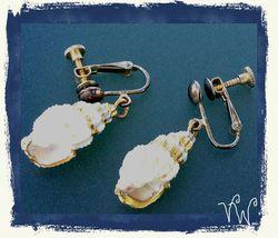 VTG 40s/50s Genuine Seashell Miniature Small Conch Shell Ocean Screw Bk ... - $12.99
