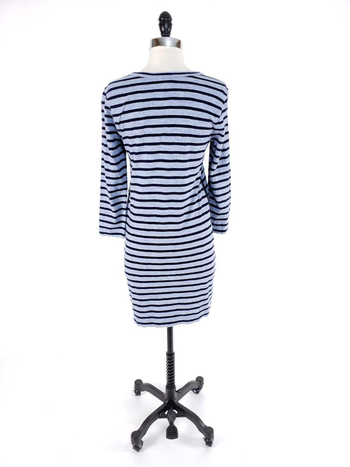 J.Crew Women XS Dress Striped Side Zip Tshirt Cotton Long Sleeve Casual image 4