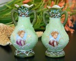 Pair vintage miniature portrait cabinet vases japan moriage pottery thumb155 crop