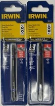 "IRWIN 1882429 Insert Bit Impact Double Ended 1/4"" Hex #2 #3 Square Drive... - $4.95"