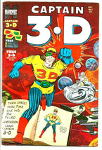 Captain 3.D #1 Harvey Comics --Vol.1 #1 Jack Kirby Glasses Still Attached 1953 - £94.20 GBP