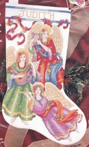 Heavenly Rhapsody Angel Harp Christmas Cross Stitch Stocking Kit Bucilla 83503 E - $37.95
