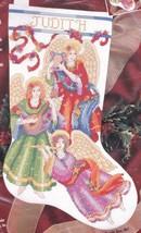 Heavenly Rhapsody Angel Harp Christmas Cross Stitch Stocking Kit Bucilla... - $37.95