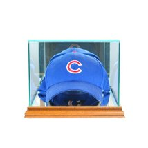 Perfect Cases MLB Cap/Hat Glass Display Case, Walnut - $50.95