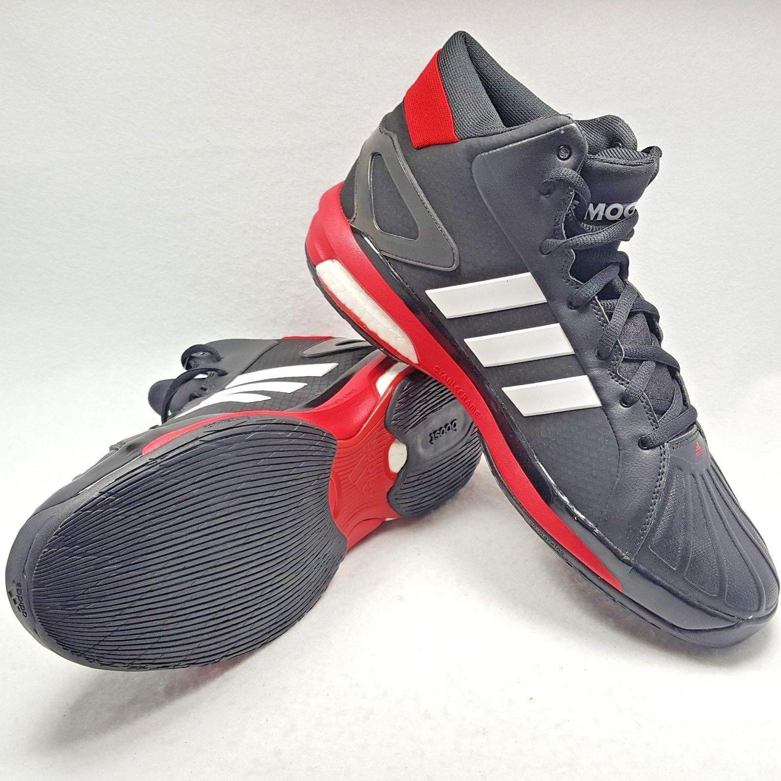 14a390d3a6d83f Adidas Futurestar Herren Verstärkung Basketballschuhe - Schwarz Rot Größe  13.5