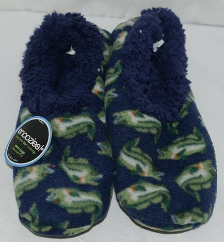 Snoozies Brand 500274N Bass Style Navy Blue Color Mens Size L House Slippers
