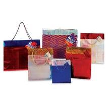 7 1/2W x 9H x 4G Medium 2-Tone Hologram Cuff On Glossy Gift Bag, 6 Designs, Case - $214.12