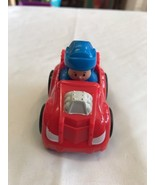 Toy Red Car Little People Blue Uniform Guy - $4.26