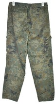 Forever 21 Green Camouflage Zipper & Drawstring Camo Cargo Pants Size S image 2