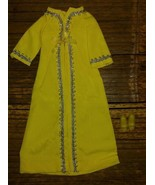VINTAGE BARBIE SILVER POLISH (1969-1970) #1492 LONG EVENING YELLOW COAT ... - $27.67