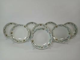 """8 Vintage 6701 Fine China Blue & Green Grape Leaf Pattern 5 1/2"""" Dessert... - $16.99"""