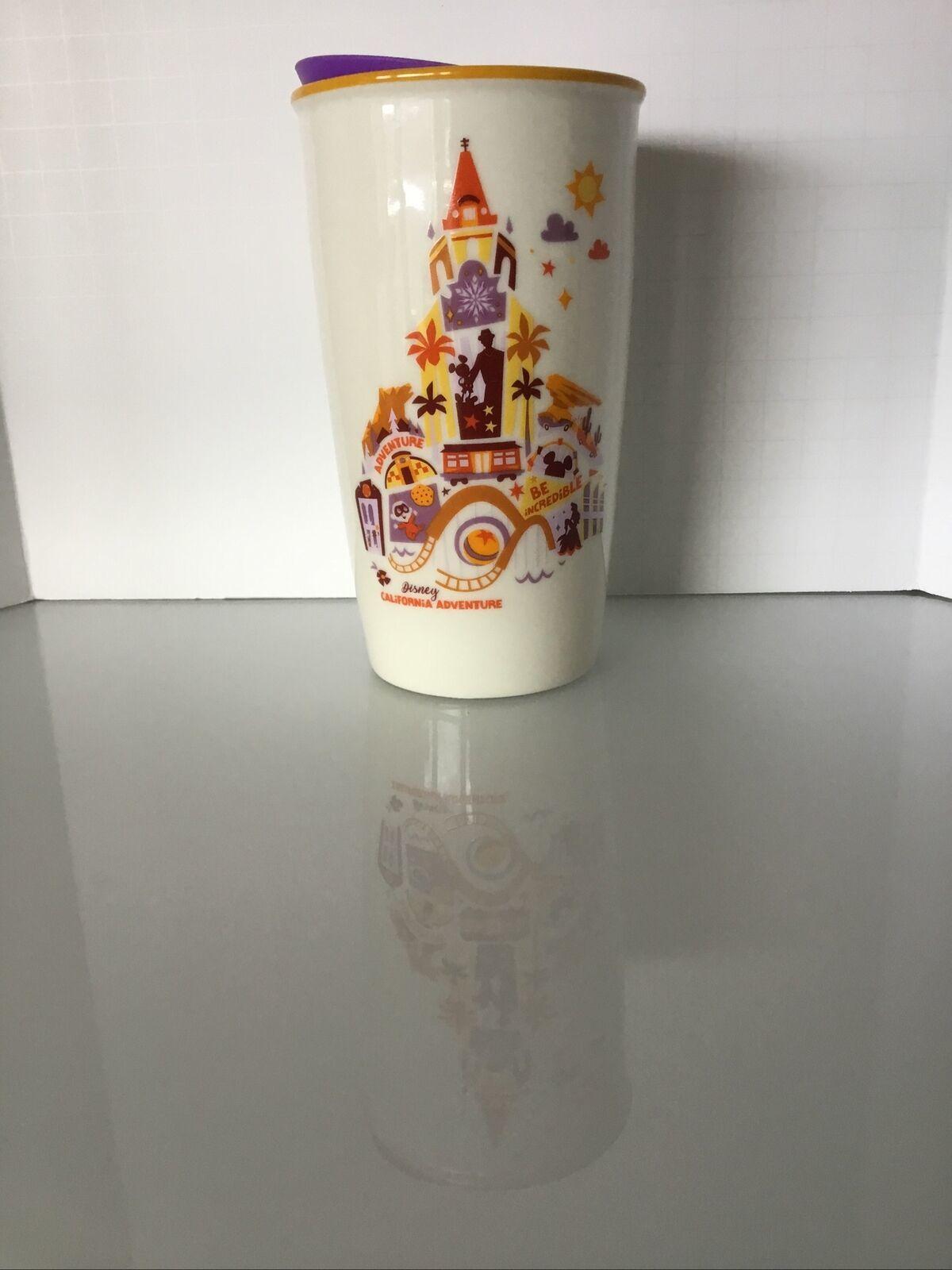 Disney Parks California Adventure Icons Starbucks Ceramic Travel Tumbler V - $34.75
