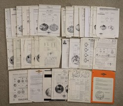 LOT vintage WATCH EBAUCHES ETA ESA TECHNICAL COMMUNICATION info HOROLOGY - $116.61 CAD