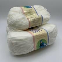 Lion Brand Baby Soft White 60% Acrylic 40% Nylon 5 oz 3 Skein - $20.95