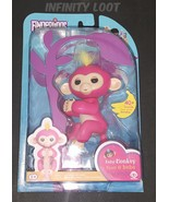 Fingerlings Bella Pink with Yellow Hair Interactive Baby Monkey HOT HOLI... - $44.55