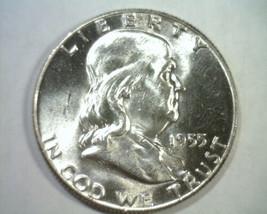 1955 FRANKLIN HALF DOLLAR NICE UNCIRCULATED FULL BELL LINE NICE UNC FBL ... - $29.00