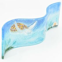 Fused Art Glass Ocean Sea Turtle Wavy Decor Sun Catcher Handmade in Ecuador image 3