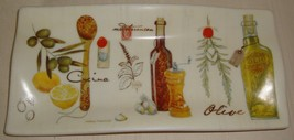 MARCO FABIANO Cypress Home Ceramic Serving Tray Olive Oil Plate Mediterr... - $9.89