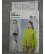 Womens Shirt Fold Back Front Misses 16 18 20 22 24 26 Butterick B6177 UC FF - $8.00