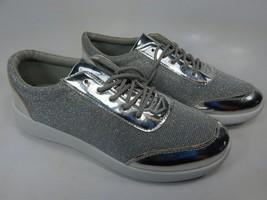 H2K Silver Glitter Size US 8 M (B) EU 39 Women's Fashion Sneakers Casual Shoes