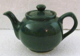 Green Stoneware Pottery Collectible Teapot Tea Water Container - $14.99